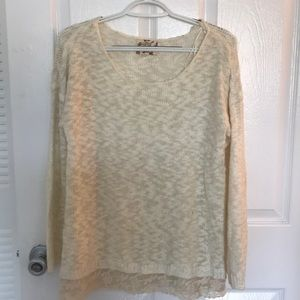 Hippie Rose lace trimmed sweater